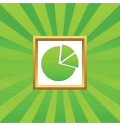 Diagram picture icon vector image vector image