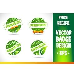 Fresh Recipe Badge vector image