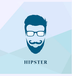 hipster people of glasses and a mustache vector image vector image