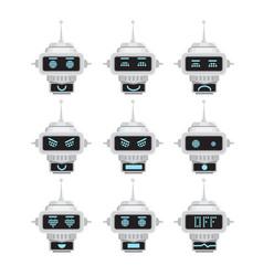 robot emotion emoji vector image vector image