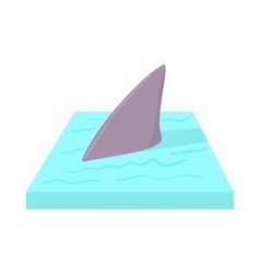Shark in the sea icon in cartoon style vector image