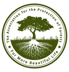 The Association for the Protection of Forests vector image vector image
