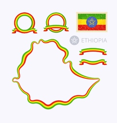 Colors of Ethiopia vector image