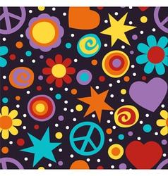 hippie pattern vector image vector image