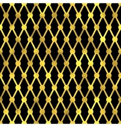 Seamless pattern Golden fashion background vector image vector image