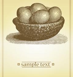 vintage menu vector image