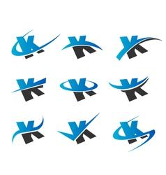 Alphabet K Logo Icons vector image vector image