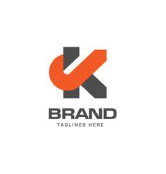 letter k logo concept vector image vector image