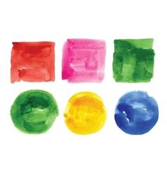watercolor design elements vector image vector image
