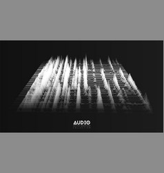 3d echo audio wavefrom spectrum abstract vector image