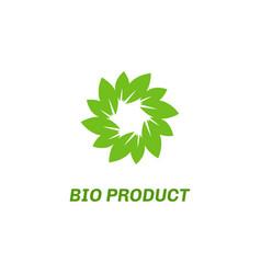 abstract eco green logo vector image