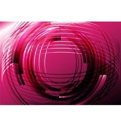 Abstract pink line circle vector