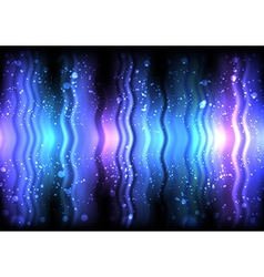 Abstract shiny waves vector image