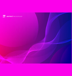 abstract wave lines pattern on pink and blue vector image