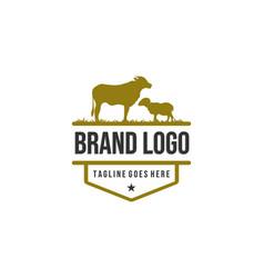 animal farm logo designs vintage logo vector image