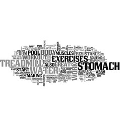 aquasize for a flatter stomach text word cloud vector image