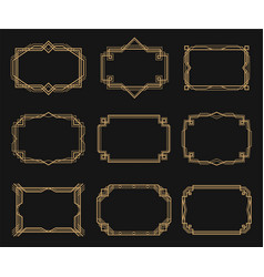 art deco frames set decorative border ornament vector image