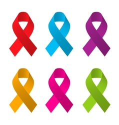 Awareness ribbons vector