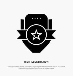 badge club emblem shield sport solid glyph icon vector image