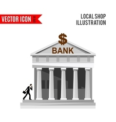Bank detailed flat design icon vector