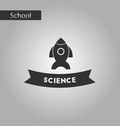 black and white style icon science vector image