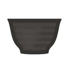 Black soup cup plate pot vector image
