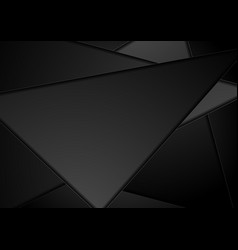 Black technology polygon abstract background vector