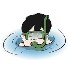 Boy diver vector