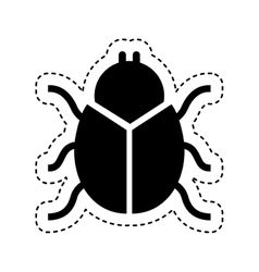 Bug insect isolated icon vector