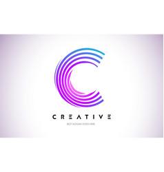 c lines warp logo design letter icon made vector image