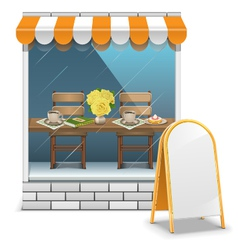 Cafe with Billboard vector