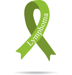 Cancer Ribbon Lymphoma International Day of vector image