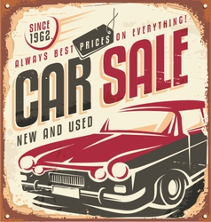 Car sale vector image