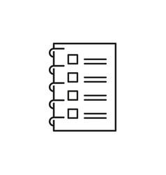 Checklist icon to do list outline icon vector