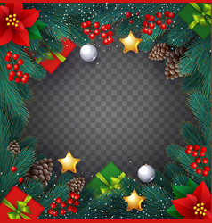 christmas realistic background with fir tree vector image