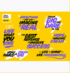 Collection of famous inspirational quotes vector