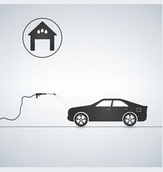 Concept for car washing service car wash service vector
