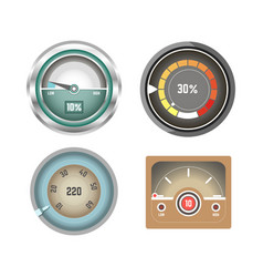 Convenient speedometers for internet traffic vector