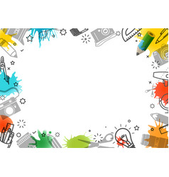 Creative frame art background vector