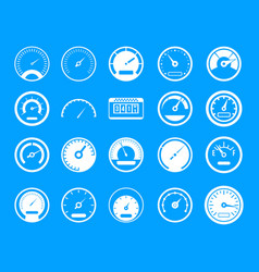 dashboard icon blue set vector image