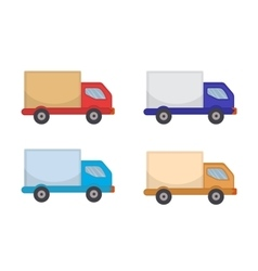 Delivery Truck Icon flat style Lorry isolated vector image