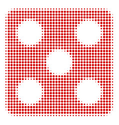 dice halftone icon vector image