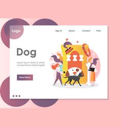 dog website landing page design template vector image