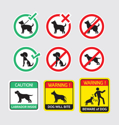 Dogs symbols signs vector