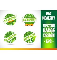 Eat healthy Badge vector image