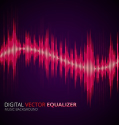 Equalizer yellow vector image