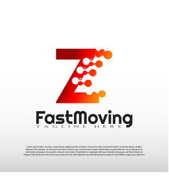 Fast moving logo with initial z letter concept vector