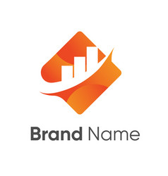 Financial logo design vector