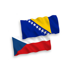 flags czech republic and bosnia and herzegovina vector image