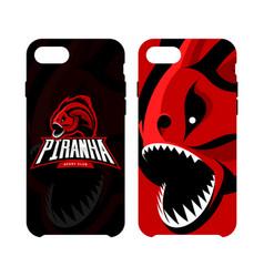 Furious piranha sport logo concept smart vector